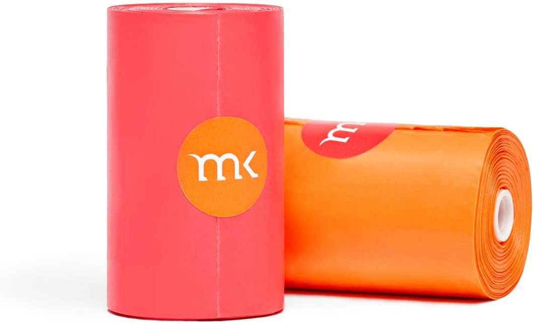 Modern Kanine Waste Bags Orange & Coral
