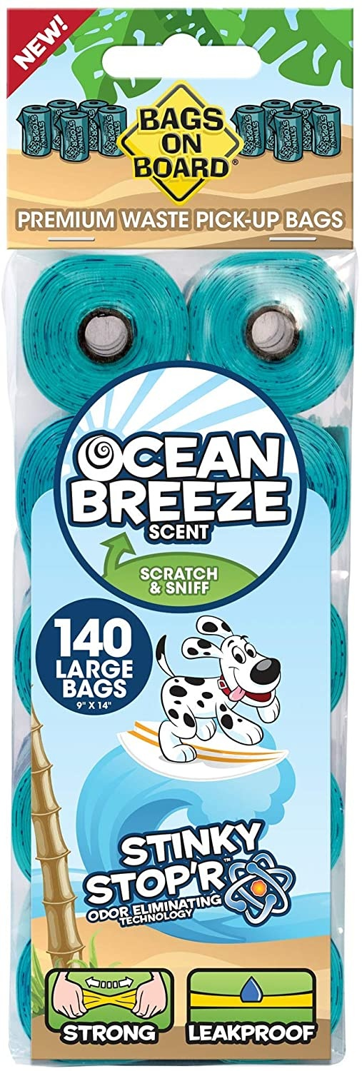 Bags on Board Turquoise Refill Waste Bags 140ct