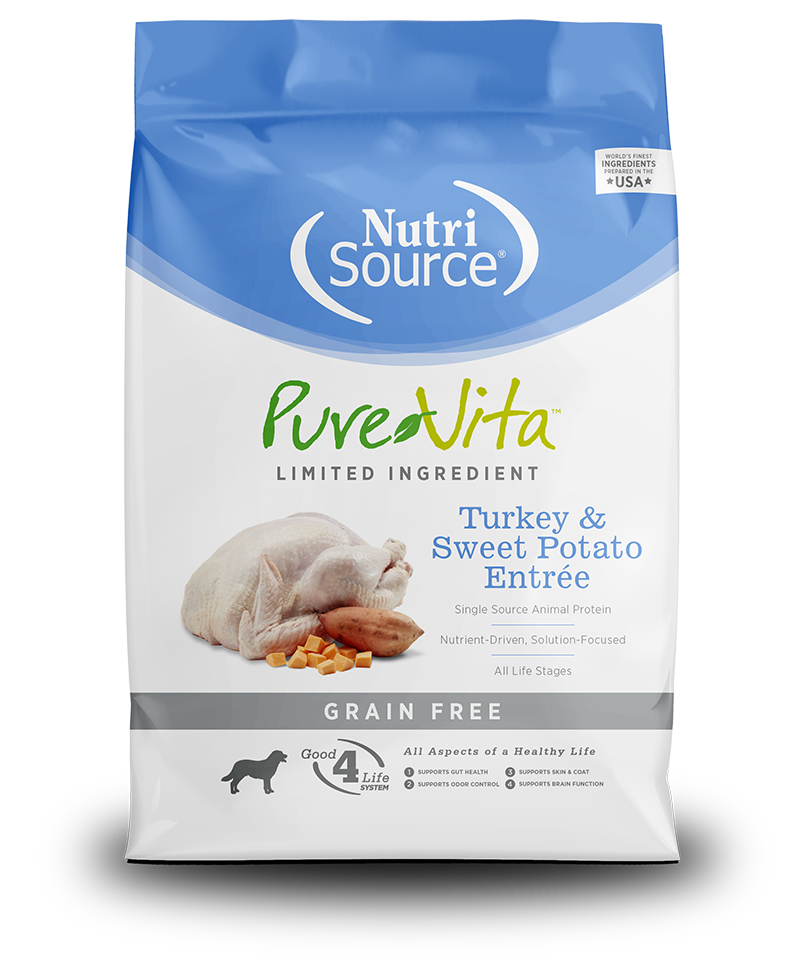 NutriSource PureVita Grain Free Turkey & Sweet Potato Dry Dog Food