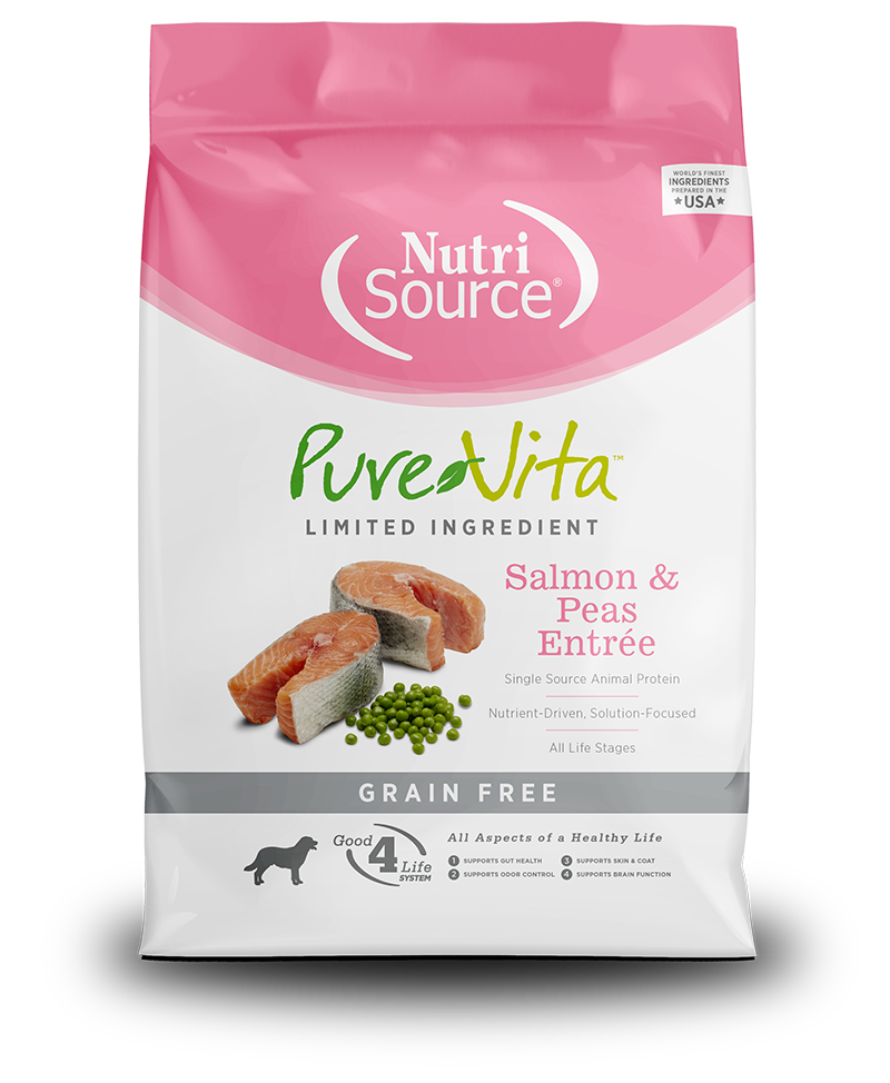 NutriSource PureVita Grain Free Salmon & Peas Dry Dog Food