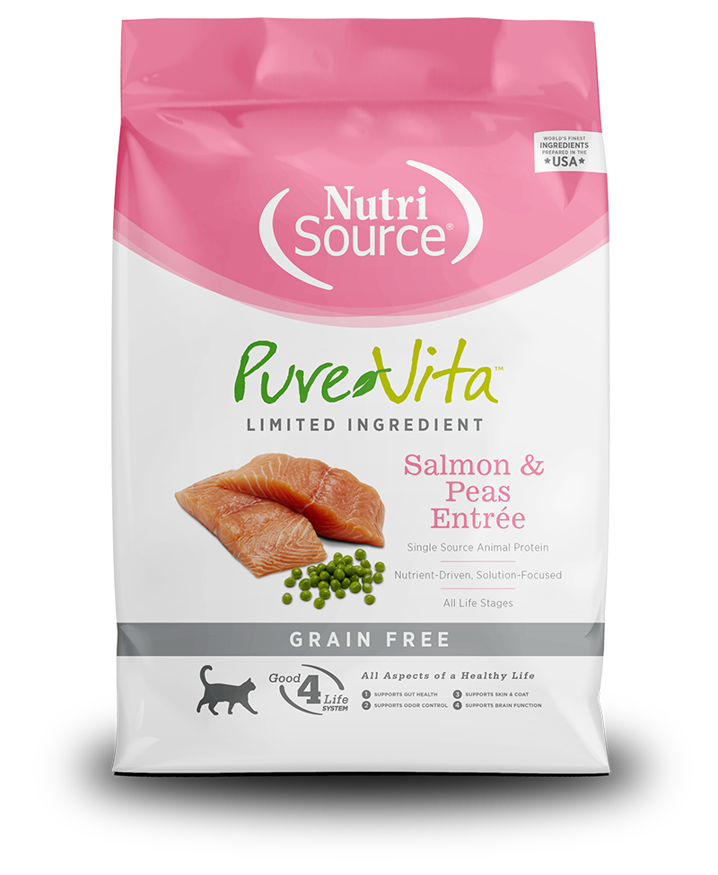 NutriSource PureVita Grain Free Salmon & Peas Dry Cat Food