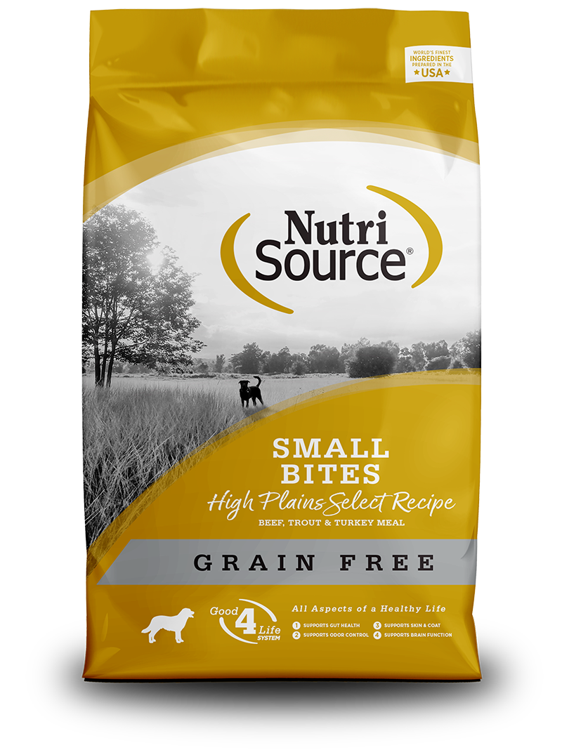 NutriSource NutriSource Grain Free Small Bites High Plains Select Beef & Trout Dry Dog Food