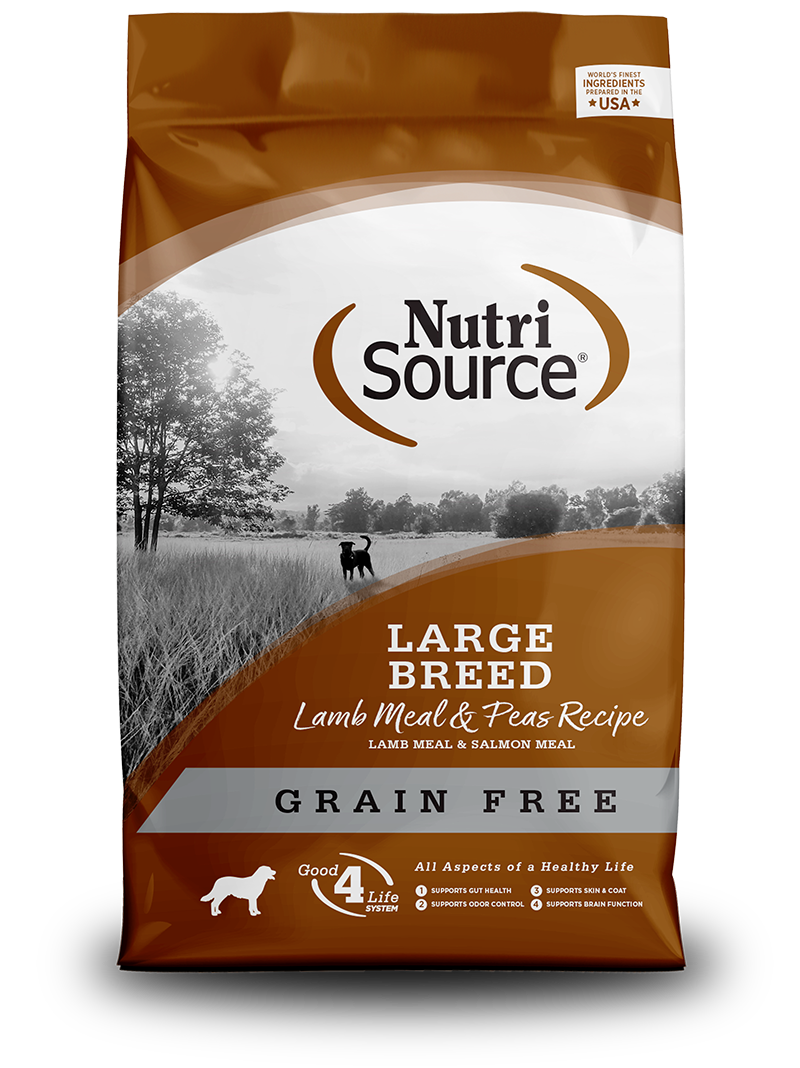 NutriSource NutriSource Grain Free Large Breed Lamb & Peas Dry Dog Food 30#