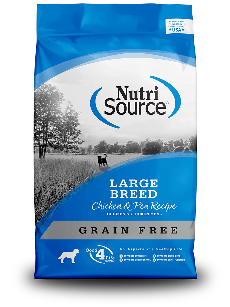 NutriSource NutriSource Grain Free Large Breed Chicken & Pea Dry Dog Food 30#