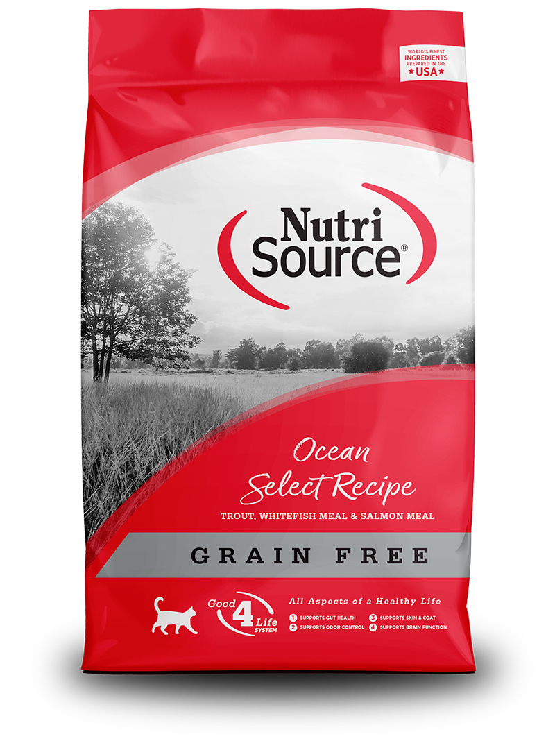 NutriSource NutriSource Grain Free Ocean Select Trout, Whitefish & Salmon Dry Cat Food