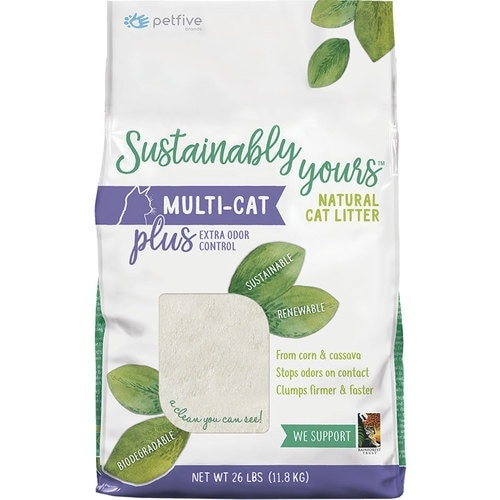 Sustainably Yours Sustainably Yours Natural Multi-Cat Litter Plus Odor Control