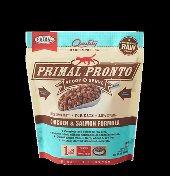 Primal Primal Chicken & Salmon Pronto Bites Raw Cat Food 1#