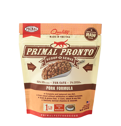 Primal Primal Pork Pronto Bites Raw Cat Food 1#