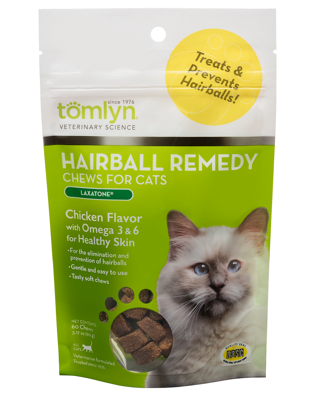 Tomlyn Tomlyn Hairball Remedy Chews with Laxatone Cat Supplement 60ct
