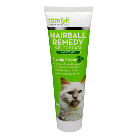 Tomlyn Tomlyn Hairball Remedy Gel with Laxatone Catnip Flavor 4.25oz
