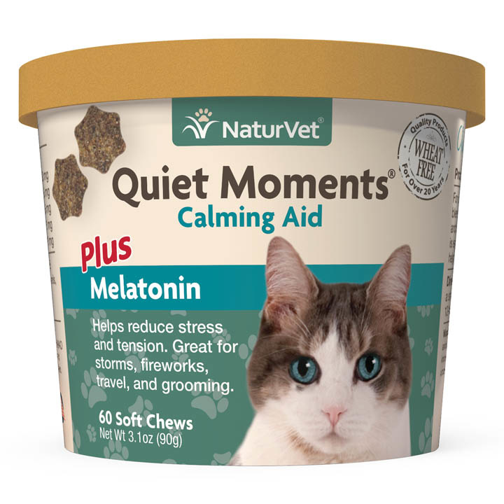 NaturVet NaturVet Quiet Moments Calming Plus Melatonin Soft Chews For Cats 60ct