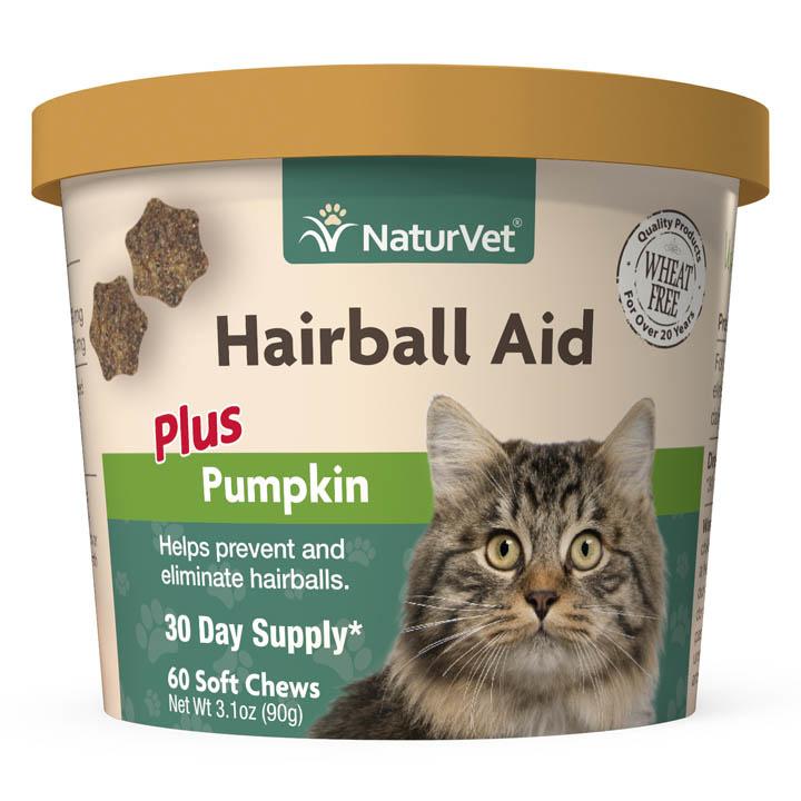 NaturVet NaturVet Hairball Plus Pumpkin Cat Supplement Soft Chew 60ct