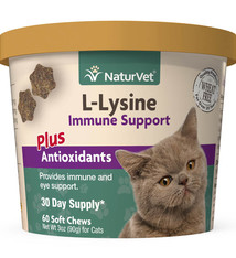 NaturVet NaturVet Cat L-Lysine Immune Support Soft Chew 60ct