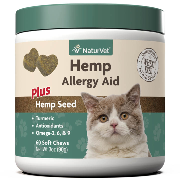 NaturVet NaturVet Advanced Hemp Allergy Aid For Cats Soft Chew 60ct