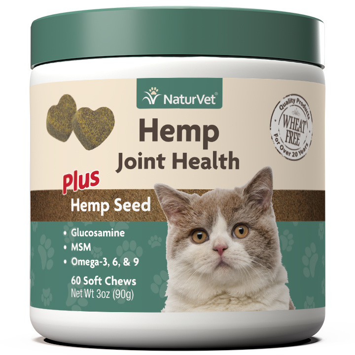 NaturVet NaturVet Hemp Joint Health Plus Hemp Seed Soft Chew For Cats 60ct