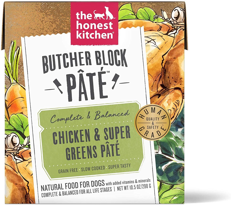 The Honest Kitchen The Honest Kitchen Butcher Block  Chicken & Super Greens Pate Wet Dog Food 10.5oz