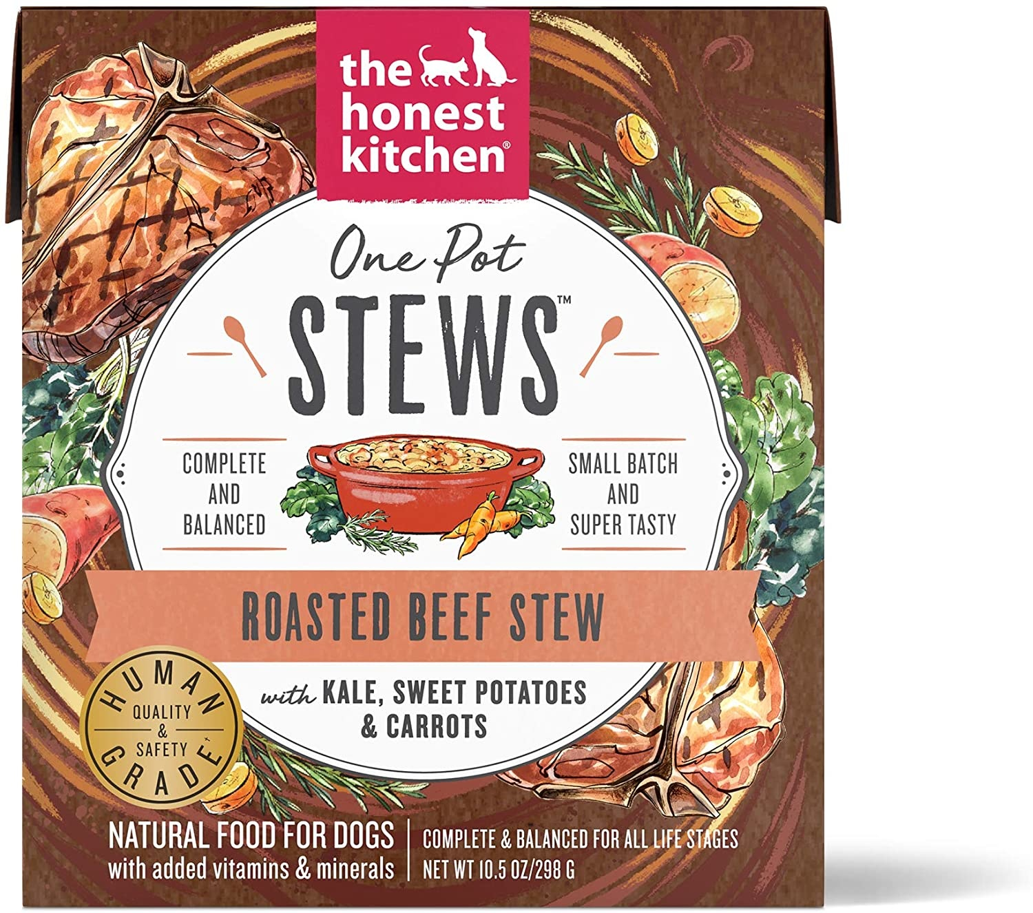 The Honest Kitchen The Honest Kitchen One Pot Stew Roasted Beef with Kale, Sweet Potatoes & Carrots Wet Dog Food 10.5oz