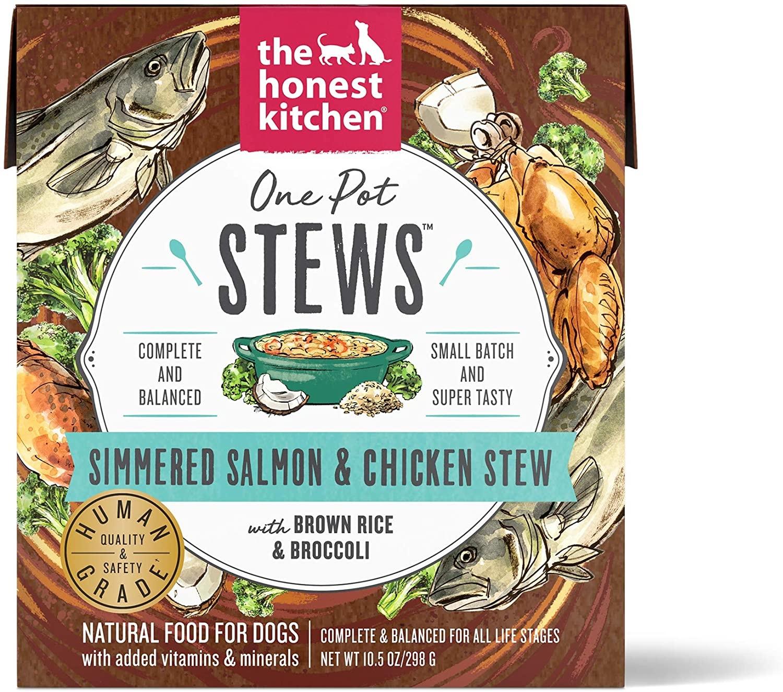 The Honest Kitchen The Honest Kitchen One Pot Stew Simmered Salmon & Chicken with Brown Rice & Broccoli Wet Dog Food 10.5oz