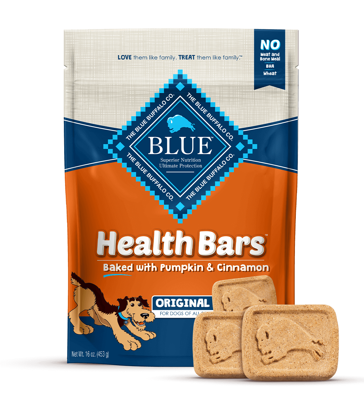 Blue Buffalo Blue Buffalo Health Bars Pumpkin & Cinnamon Dog Treats 1#