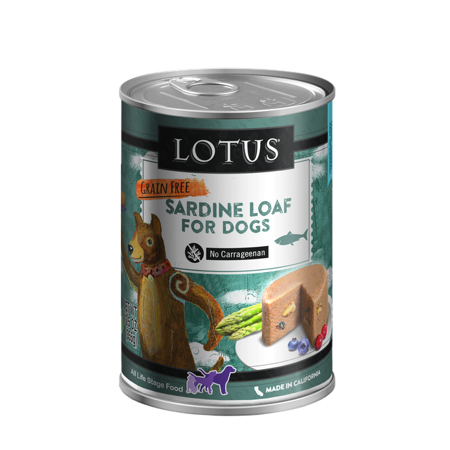 Lotus Lotus Grain Free Loaf Sardine Wet Dog Food 12.5oz