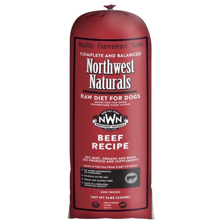 Northwest Naturals Northwest Naturals Chub Beef Raw Dog Food 5#