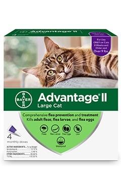 Bayer Advantage II Large Cat 9+ lbs Topical Flea Control