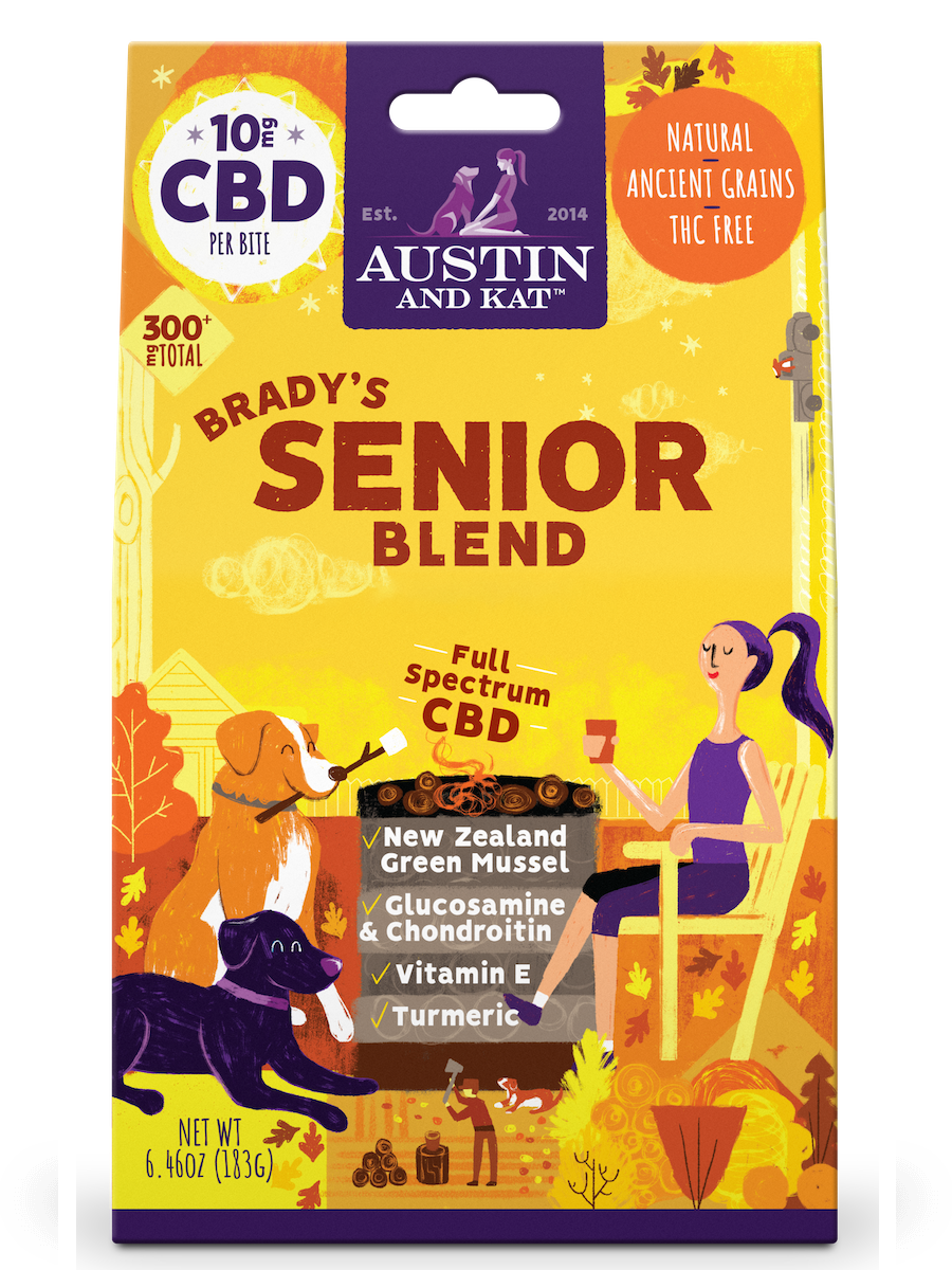 Austin & Kat Austin & Kat Functional Biscuits Brady's Senior Blend CBD Supplement 10mg 30ct