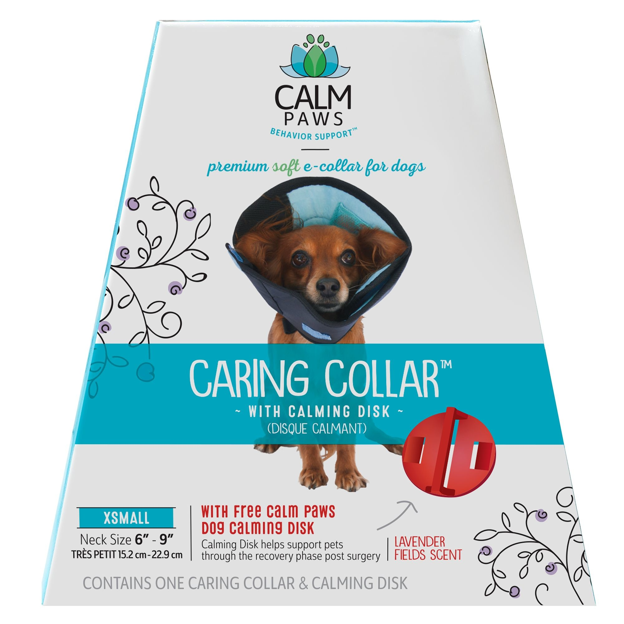 21st Centry Animal Health Care Calm Paws Caring Collar with Calming Gel Patch