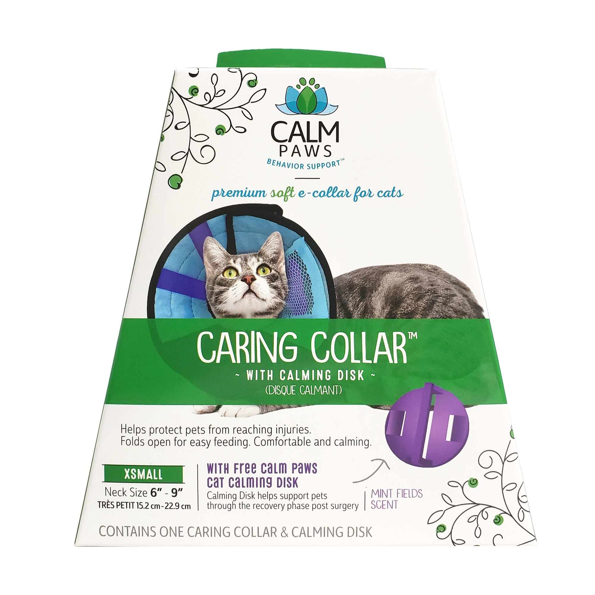 21st Centry Animal Health Care Calm Paws Caring Collar with Calming Gel Patch Cat