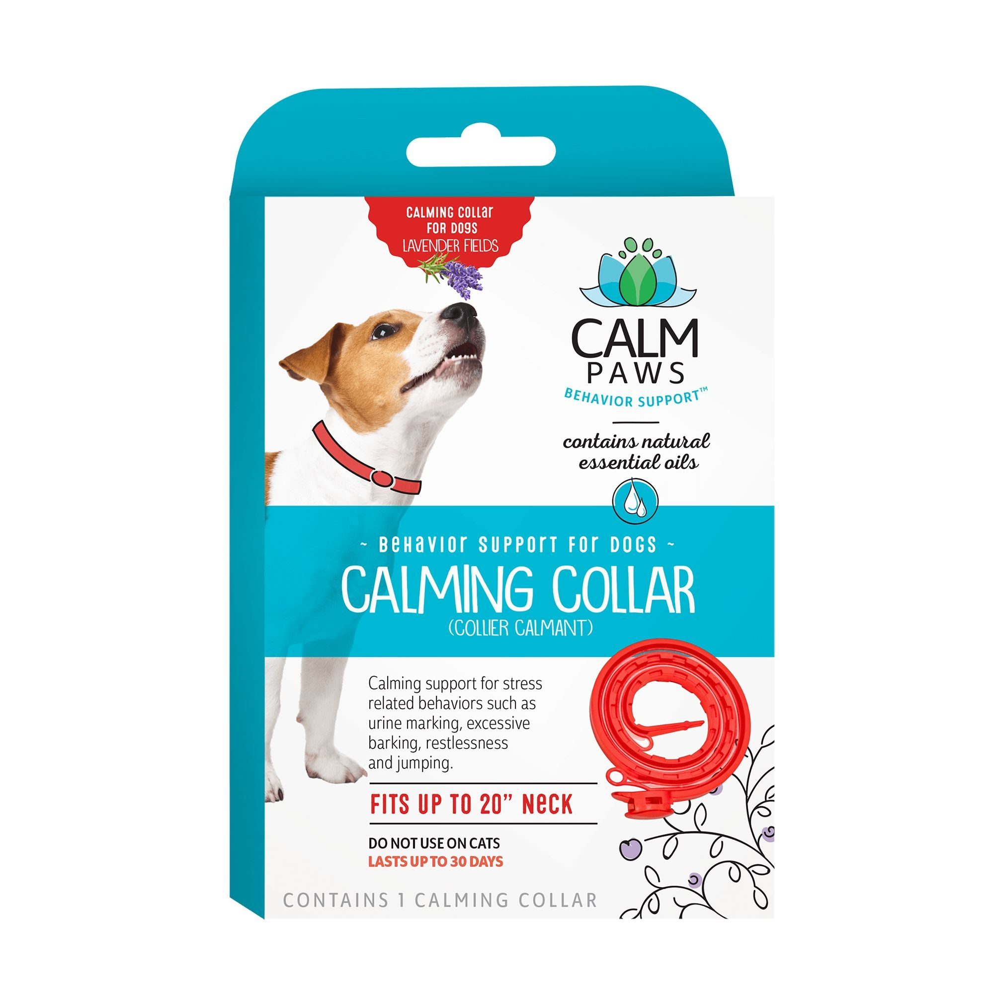 21st Centry Animal Health Care Calm Paws Behavior Support Calming Dog Collar