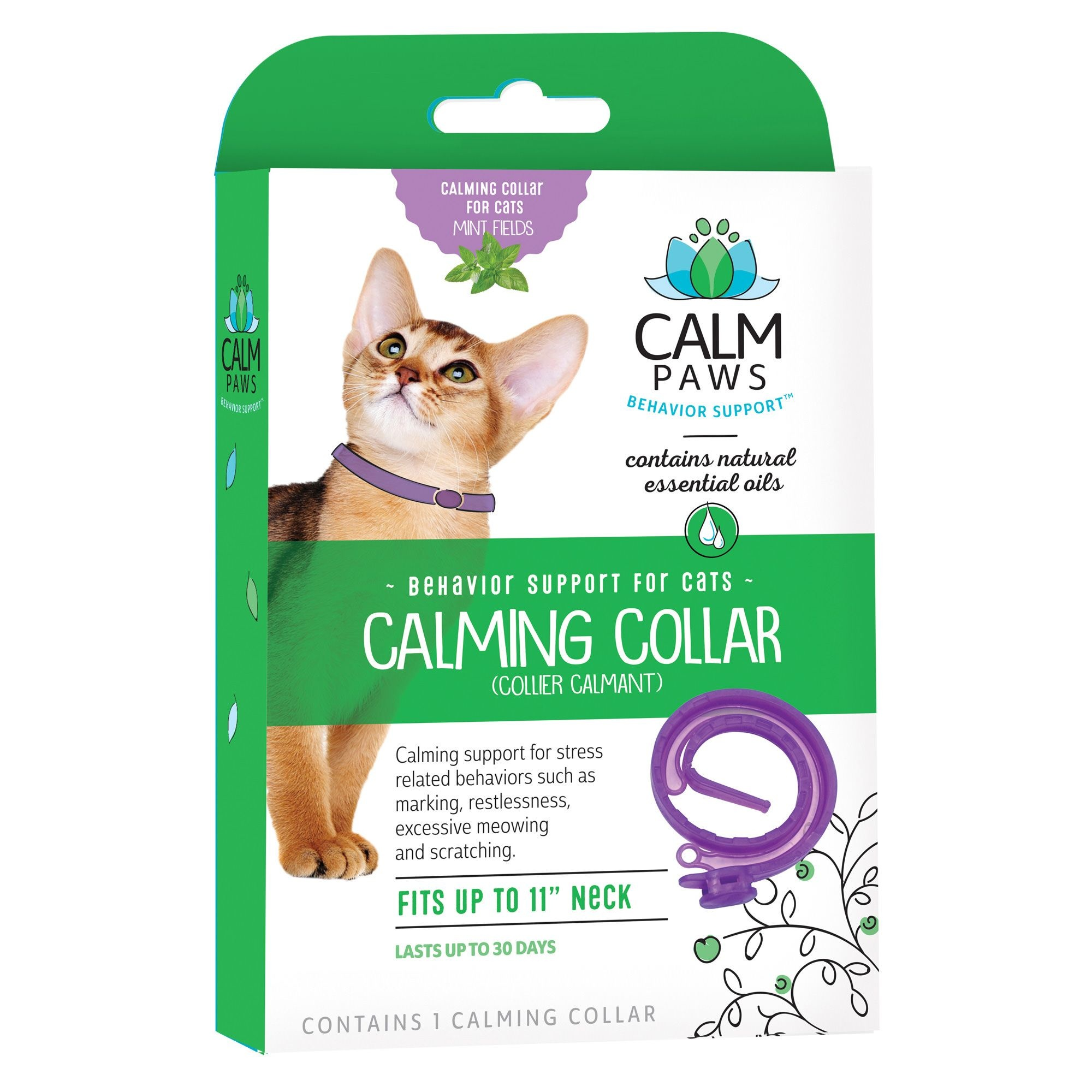 21st Centry Animal Health Care Calm Paws Behavior Support Calming Cat Collar