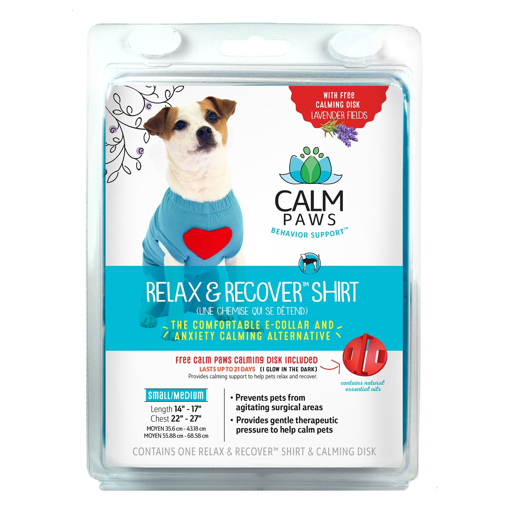 21st Centry Animal Health Care Calm Paws Relax & Recover Dog Shirt
