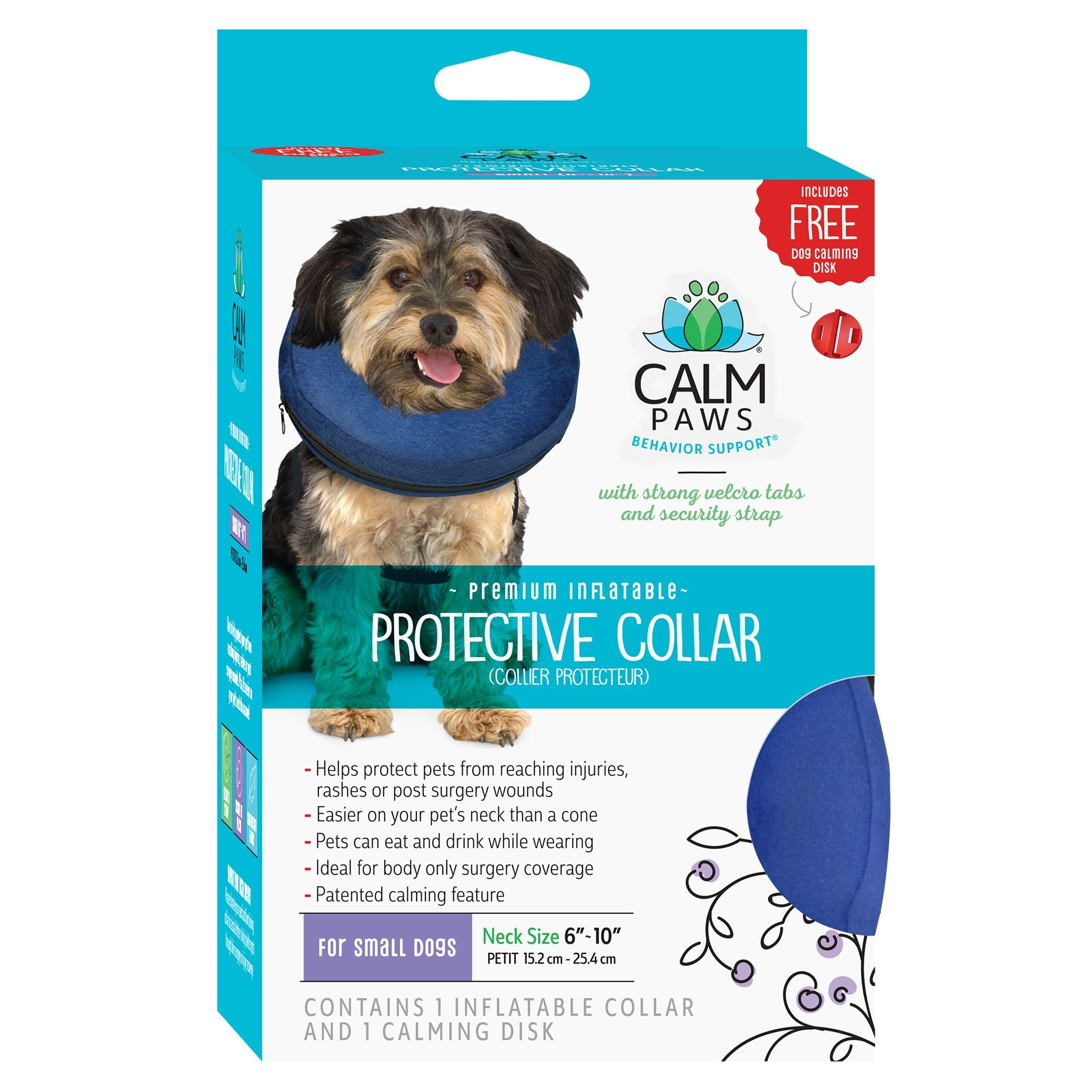 21st Centry Animal Health Care Calm Paws Inflatable Protective Collar