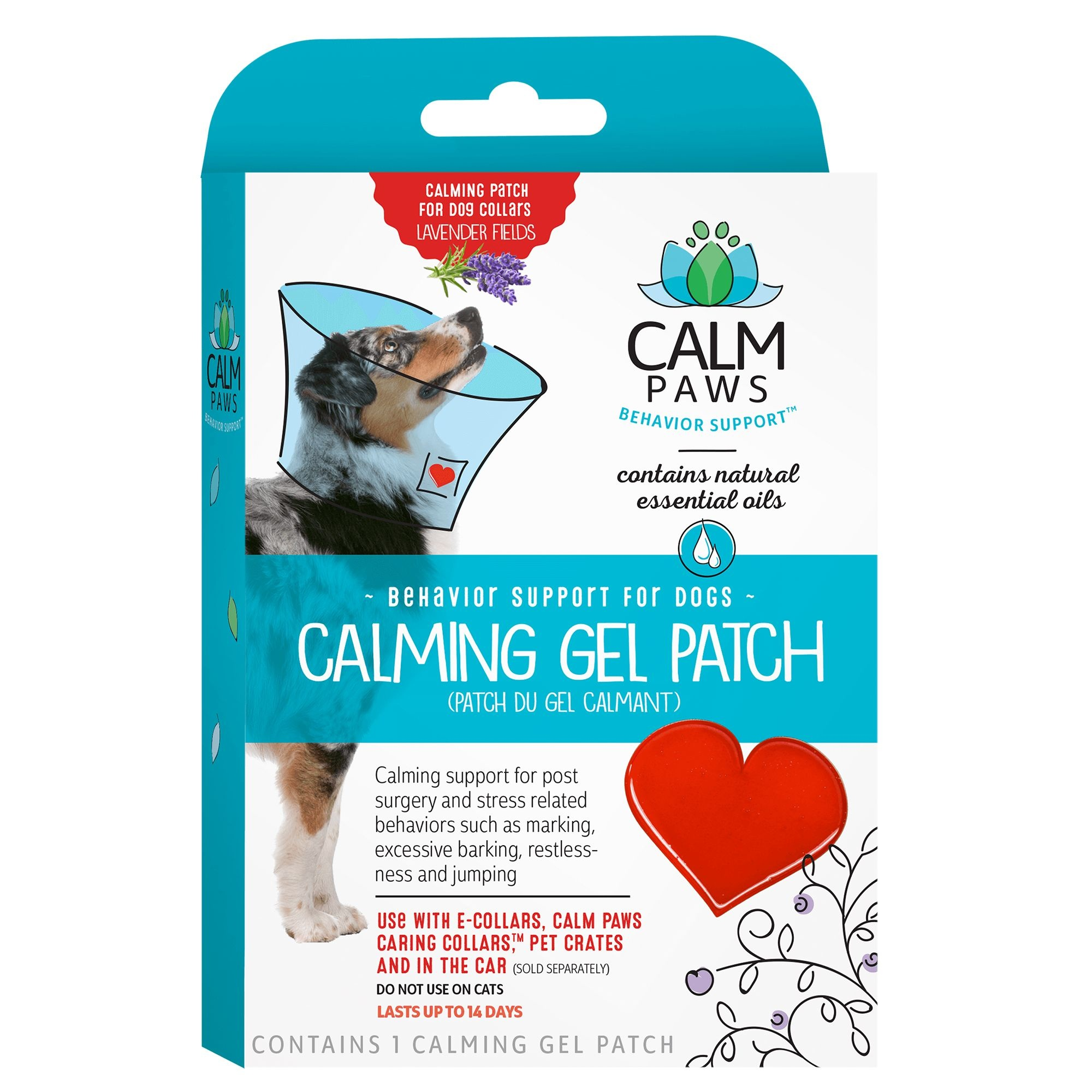 21st Centry Animal Health Care Calm Paws Behavior Support Calming Gel Patch for Dogs