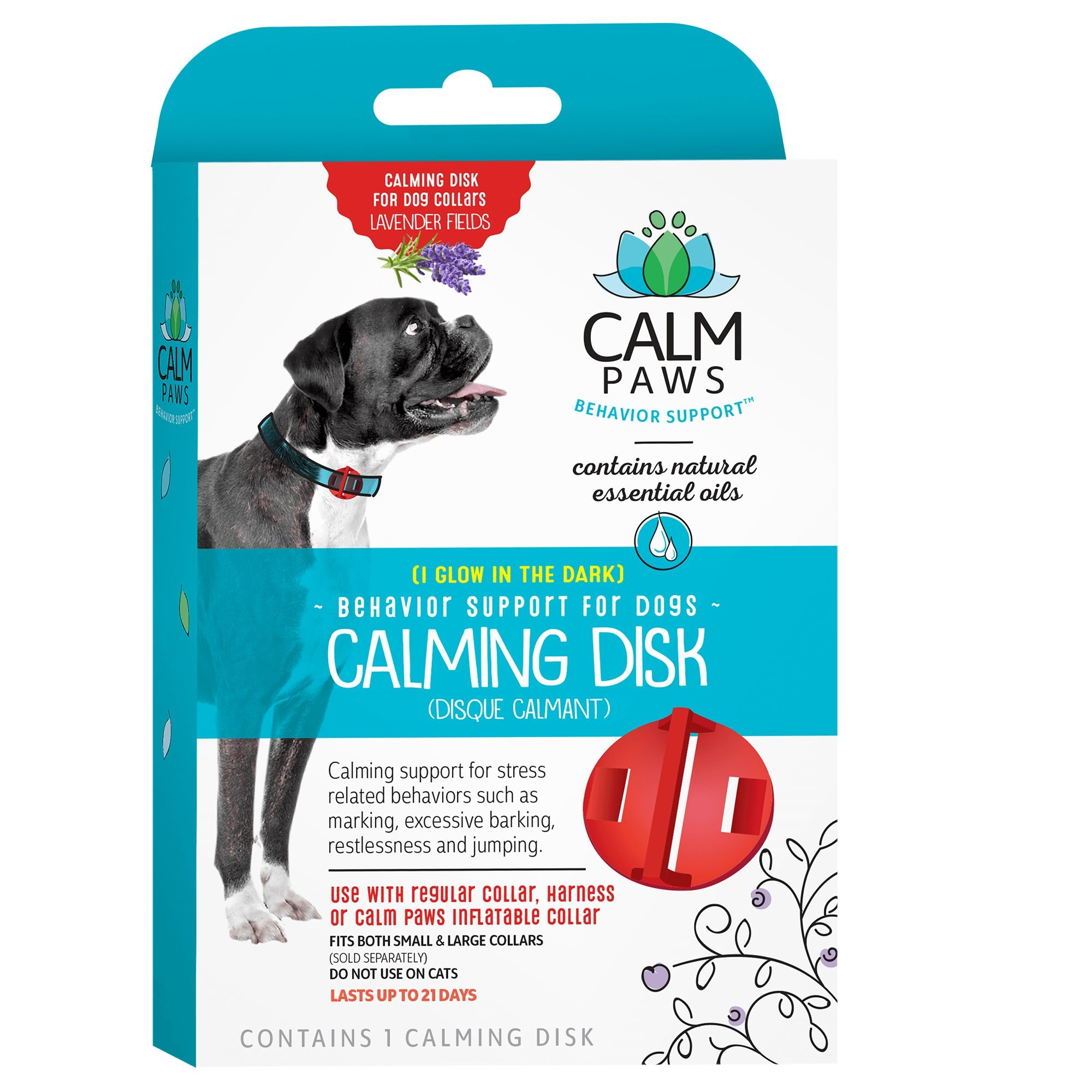 21st Centry Animal Health Care Calm Paws Behavior Support Calming Disc for Dogs
