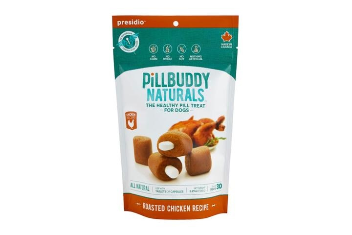 Presidio Natural Pet Co. Pill Buddy Naturals Roasted Chicken Recipe Pill Hiding Dog Treat 30ct