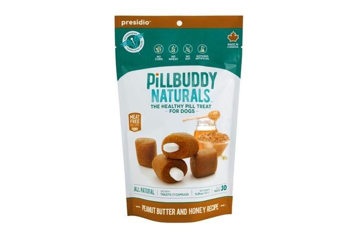Presidio Natural Pet Co. Pill Buddy Naturals Peanut Butter & Honey Recipe Pill Hiding Dog Treat 30ct