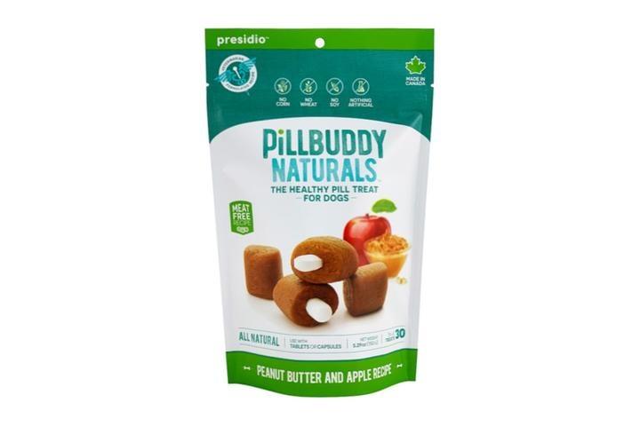 Presidio Natural Pet Co. Pill Buddy Naturals Peanut Butter & Apple Recipe Pill Hiding Dog Treat 30ct