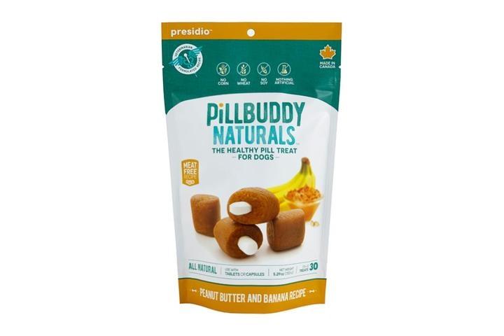 Presidio Natural Pet Co. Pill Buddy Naturals Peanut Butter & Banana Recipe Pill Hiding Dog Treat 30ct