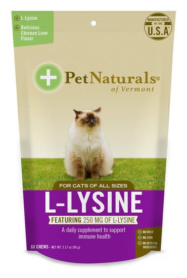 Pet Naturals of Vermont Pet Naturals of Vermont L-Lysine Chews for Cats 60ct