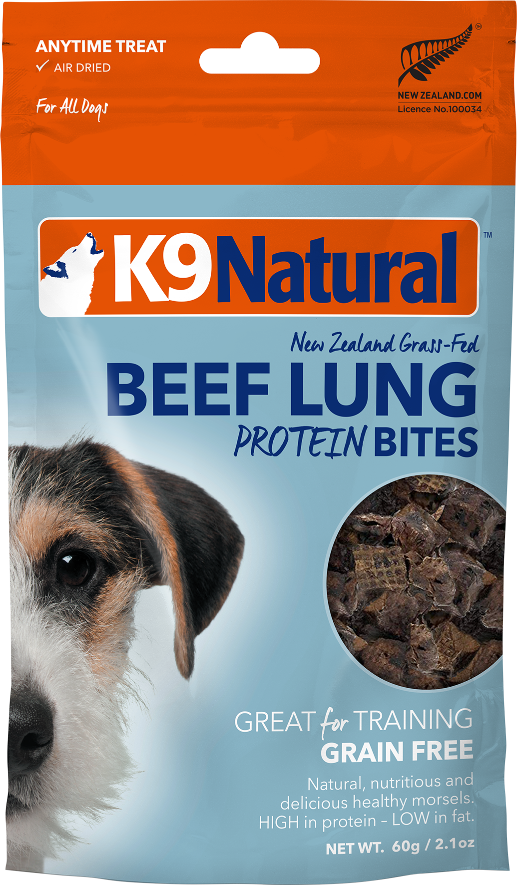K9 Natural K9 Natural Freeze Dried Beef Lung Protein Bites 2.1oz