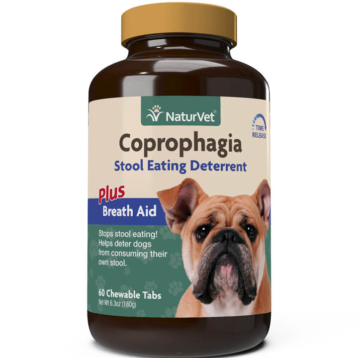 NaturVet NaturVet Coprophagia Stool Eating Deterrent Plus Breath Aid Chewable Tablets Dog Supplement 60ct