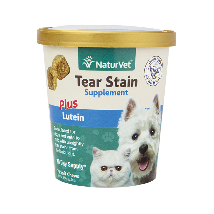 NaturVet NaturVet Tear Stain Plus Lutein Soft Chew For Dogs 70 Count