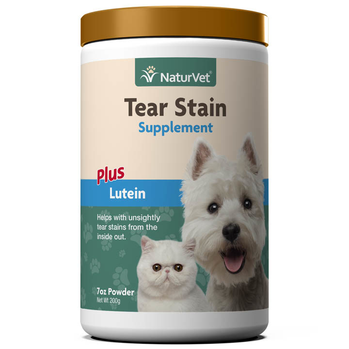 NaturVet NaturVet Tear Stain Plus Lutein Powder Supplement 200mg