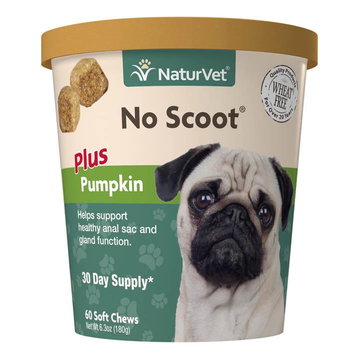 NaturVet NaturVet No Scoot Plus Pumpkin Soft Chew Dog Supplement 60ct