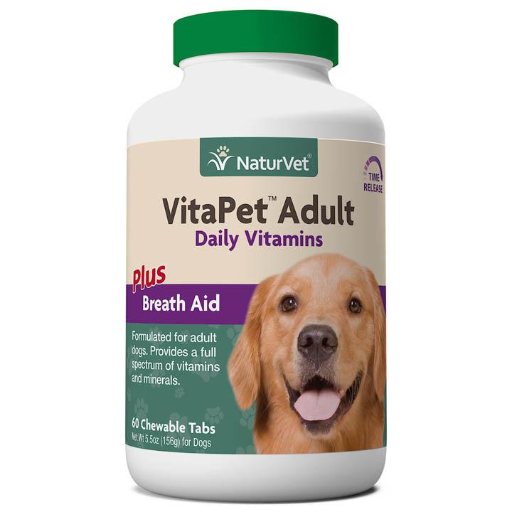 NaturVet NaturVet VitaPet Adult Plus Breath Aid Chewable Tablet Dog Supplement 60ct