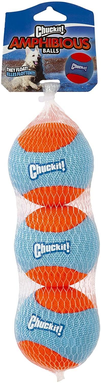 Chuckit! Chuckit! Amphibious Ball Dog Toy Medium 3pk