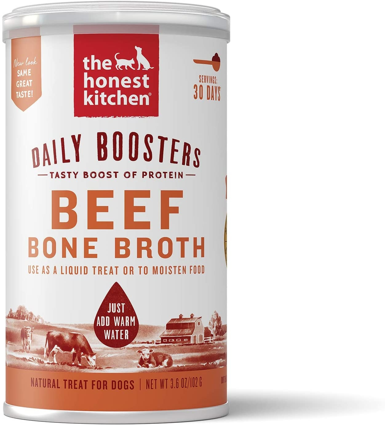 The Honest Kitchen The Honest Kitchen Daily Boosters Beef Bone Broth 3.6oz