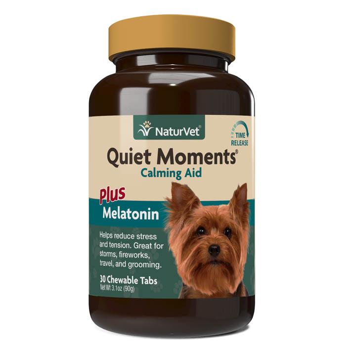 NaturVet NaturVet Quiet Moments Plus Melatonin Chewable Tablets Dog Supplement 30ct
