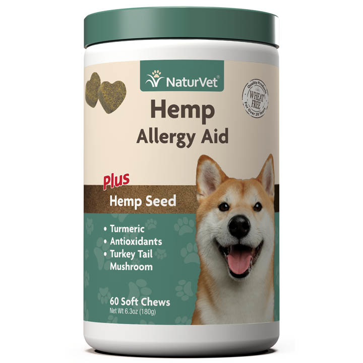 NaturVet NaturVet Hemp Allergy Aid Soft Chew Dog Supplement 60ct